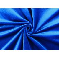 China 200GSM Soft 100% Polyester Velvet Fabric For Home Textile Royal Blue Color on sale