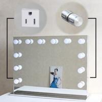 Quality Hollywood Style Vanity Led MakeUp Mirror With 10 Dimmable LED Light Bulbs And Flexible Strip wholesale