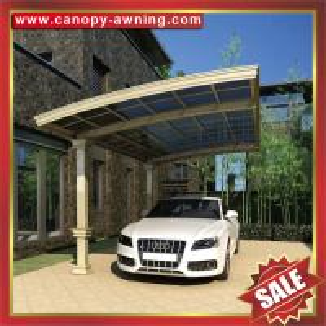 Quality modern outdoor rain sun pc polycarbonate aluminium aluminium parking car shelter canopy awning cover shield carport wholesale