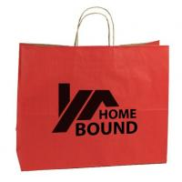 Promotional Custom Printed Paper Shopping Bags With Cotton String Handles