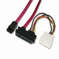 Quality SATA Cables with Slimline SATA 7, 15-pin Cable Side to 7-pin and B4P Cable wholesale