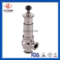 China Food Grade Sanitary Pressure Relief Valve Safety One Way Flow Direction on sale
