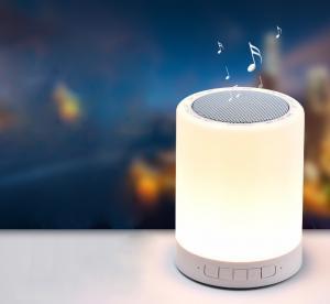 China LED Bedside Lamp and Night light Portable Bluetooth Speaker 3W LED Outdoors Mini Speaker on sale