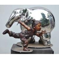 Buy cheap Modern Outdoor Metal Figure Sculpture , Stainless Steel Animal Sculpture from wholesalers