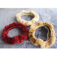 Quality Cute Girly Car Steering Wheel Covers , Winter Real Fur Steering Wheel Cover  wholesale