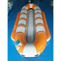 Quality Orange Color Inflatable Banana Boat, Towable Water Boat For Summer Activity wholesale