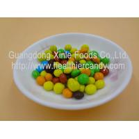 Quality Good Taste Crispy Chocolate Cacao Beans Yellow / Red / Blue Colour Jelly Candy wholesale