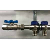 Quality Short Flowmeter S S 304 9 zones House Water Manifold for Floor Heating Systems wholesale