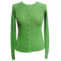Quality girls cardigan womens knitted sweaters With Buttons , Handmade Embroiery wholesale
