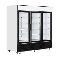 Buy cheap Commercial Upright Glass Door Freezer Fridge With Plug - In Embraco Compressor from wholesalers