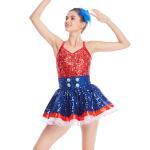 Quality Amazing Tap Costume Race Back Dance Dress Performance Wear wholesale