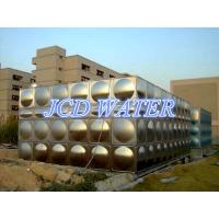 Quality Vertical Domestic Sectional Water Tanks For Commercial , Bead Blasted Stainless Steel Water Tanks wholesale