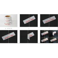 Cheap Self Adhesive Evident Void security label, Security Void Special Adhesive Tape for Bags for sale