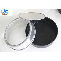 Quality Round Aluminum Cake Mould With Removable Bottom Customized Size wholesale