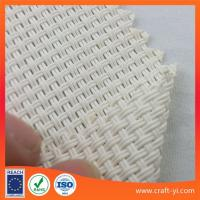Quality White color Textilinene mesh fabric 2X2 wires woven style suit for outdoor sunshade or chairs wholesale
