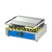 China Double grooved non stick surface electric panini contact grill EGD-14 on sale