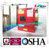 Buy cheap Red Flammable Combustible Storage Cabinets Two Vents Single Door product