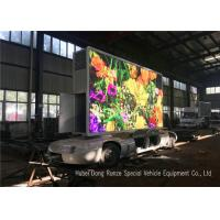 Quality Outdoor Full Color Mobile LED Advertising Trailer With Hydraulic Lifting System wholesale