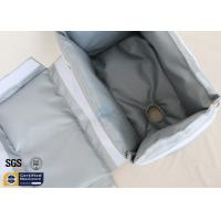 Quality Heat Thermal Insulation Jackets Removable Fiberglass Grey 25mm 260℃ Cover wholesale