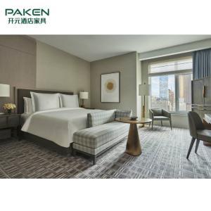 China Customized Modern Design 5 Star Hotel Wooden Bedroom Furniture Set on sale
