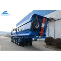 China Mining Dump Semi Trailer  80-100 Tons 6 Axles High Strength Buckets Size 40cbm on sale