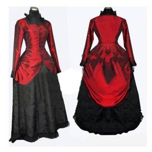 Quality Medieval Dress Wholesale XXS to XXXL Renaissance Medieval Elegant ROCOCO Punk Gothic Red Ball Dress Cosplay wholesale