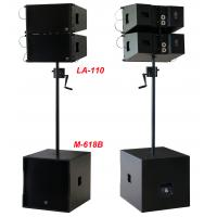 "Quality 380W Line Array Speaker , With 2x1""+10"" Neodymium Drivers For Living Event , DJ , Party And Installation wholesale"