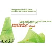 China eco friendly biodegradable plastic compostable garbage bags, compostable biodegradable printed charity donation bag on sale