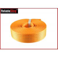 Buy cheap Heavy Duty Polyester Ratchet Strap Webbing / Striped Tie Down Webbing from wholesalers