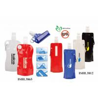 Quality Customrized promotional foldable water bottle printed logo inceacing brand name wholesale
