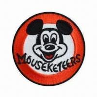 Quality Disney embroidered emblem, customized designs are accepted wholesale