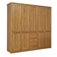 Cheap Open doors cloth armoire by wood panel with Sock and tie tray inside drawer chest in metal sliding rail outside racks for sale