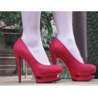 Quality red crystal women's dress shoes Europe size 35-40 wholesale
