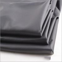 Cheap Rusha Textile Hot Sale Solid Dyed Knit Black FDY Stretch Poly Coated Fabric for sale