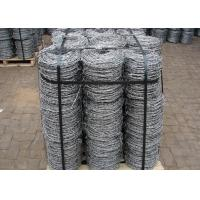 Quality Double Strands Electro Hot Dip Galvanzied Barbed Iron Wire 4 Inch Distance wholesale