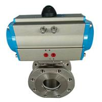 China CF8M ball valve with electric actuator on sale