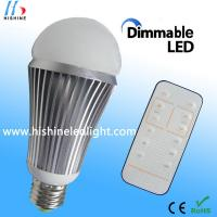 Quality Household 9w e27 / b22 Dimmable LED Lights with remote controller wholesale