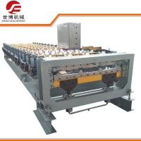 Quality 10-15 M/Min Trapezoidal Sheet Roll Forming Machine With Cutting Upside Down wholesale