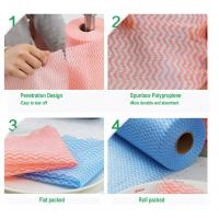 Quality Disposable Spunlace Nonwoven Wipes Cleaning Wipes With Different Color wholesale