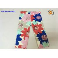 Quality Large Floral Printed Cute Baby Girl Leggings Color Customized For Infant wholesale