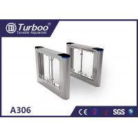Quality Optical Swing Pedestrian Access Gate , 304 316 Stainless Steel Turnstiles wholesale