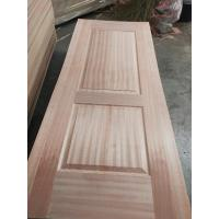 Quality Inside Furniture Oak Veneer Door Skin , Beautiful Door Panel Skins With Sapeli Veneer wholesale