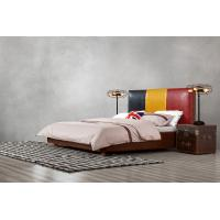 Cheap Leather Upholstered Headboard Custom Bed in hotel Guestroom king and queen size for sale