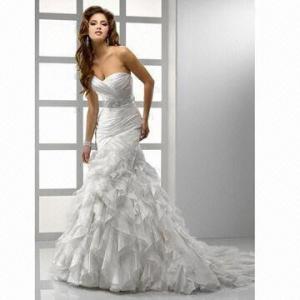 Quality Sweetheart Organza Mermaid Wedding Dress wholesale