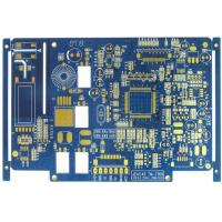 Quality Blue 4 Layer FR4 Flash Gold Bare Rigid PCB Board Fabrication High Precision wholesale
