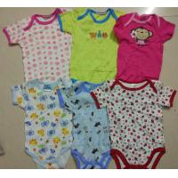 Buy cheap on sale kids mixed stock assorted short sleeve baby boxer boy girl cotton summer onesie Singapore cheap rompers from wholesalers
