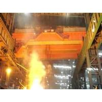 Quality heat insulation steel work 225ton, 450t overhead casting ladle crane for EAF bay wholesale
