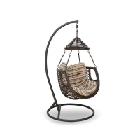 Quality Width 800mm Depth 840mmRattan Hanging Egg Chair Indoor With New Design wholesale