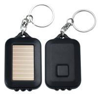 Quality Mini Solar LED Emergency Flashlight , High Powered Flashlight With Keychain wholesale