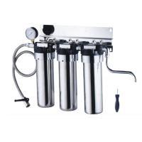 Quality Stainless steel under sink water filter purifier with gauge wholesale